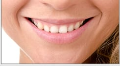 perfect woman's smile resulting from a smile makeover